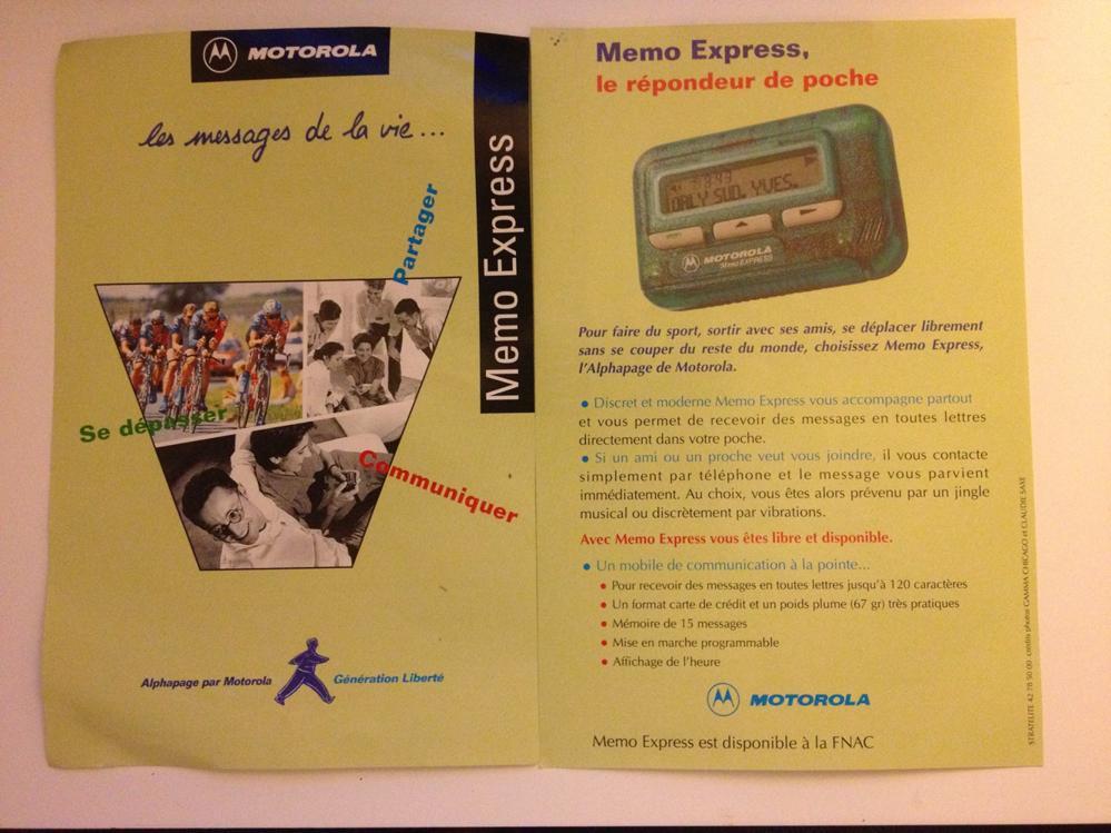 Motorola Memo Express
